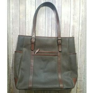 JACK GEORGES brown laptop tote